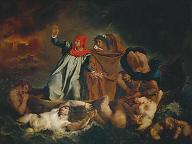 Tableau par Delacrois Don Juan aux enfers